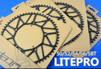 Litepro Chainring CNC lightweight 50t / 52t /54t/56t/58t narrow wide chainring crank 130bcd
