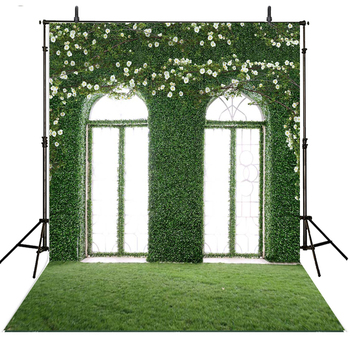 Wedding Photography Backdrops Green Window Vinyl Backdrop For Photography Indoor Background For Photo Studio Foto Achtergrond