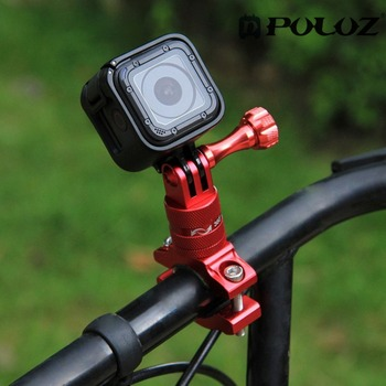 PULUZ 360 Degree Rotation Bicycle Adapter Mount Aluminum Alloy Handlebar With Screw For GoPro Sport Camera Go pro Accessories