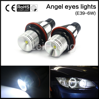 6 W PARLAK 6000 K LED ANGEL EYES HALO AMPULLER için 02-08 BMW 745I/745LI/750I/750LI E39