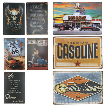 Motor Life Vintage Craft Tin Sign Retro Metal Painting Antique Poster Bar Pub Signs Plaque Wall Art Sticker Home Decoration