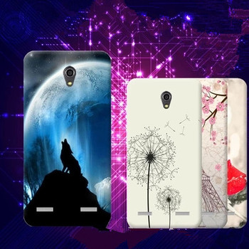 Cartoon Colored Drawing TPU Gel Soft Painted Case Cover For ZTE Blade A603 BA603