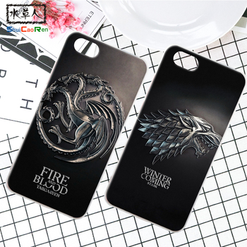 ShuiCaoRen Silikon Kılıf Apple iPhone 5 5 S SE Retra Oyunu thrones iphone Için Kapak Telefonu Coque Buz ve Yangın Fundas 5 S